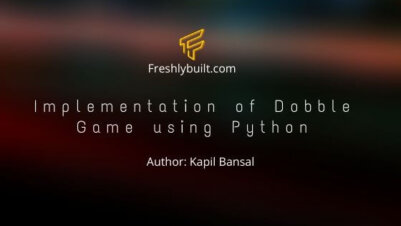 Implementation of Dobble Game using Python