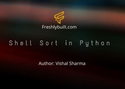 Shell sort in Python Poster