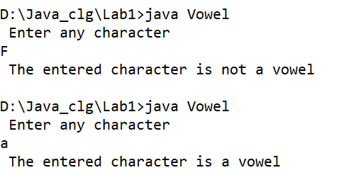 Write a program to find whether a given char is vowel using